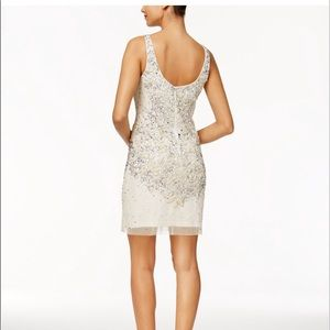 Dresses - Adrianna Papell embellished mesh tank size 8